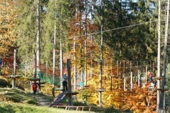 Wisła Atrakcja park linowy Przygoda Park